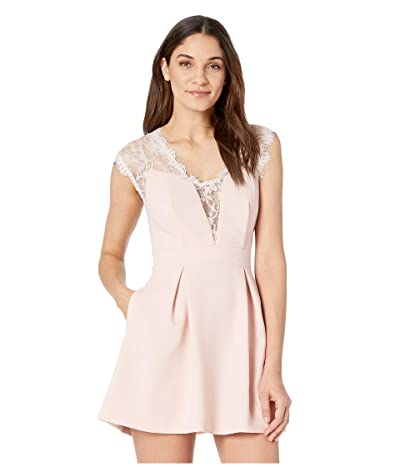 BCBGeneration Sleeveless V-Neck Shirt Cocktail Dress GEF68B66 (Rose Smoke) Women