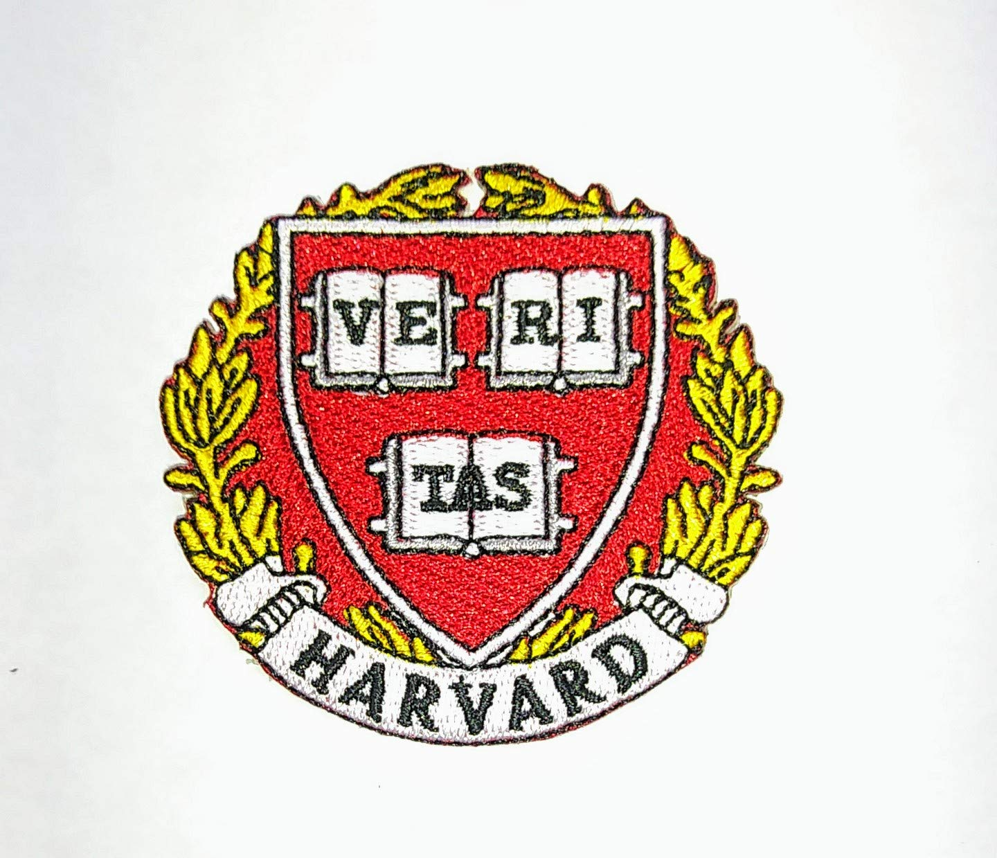HARVARD Portland Mall CRIMSON IRON ON EMBROIDERED PATCH EMBROIDERY Max 67% OFF SCH PATCHES