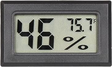 Qooltek Mini Digital Hygrometer Thermometer Indoor Humidity Monitor with Temperature Humidity Gauge Meter for Cars Incubators and Brooders Climb Pet (Fahrenheit)