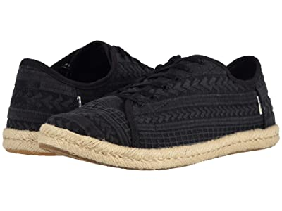 TOMS Lena (Black Arrow Embroidered Mesh) Women
