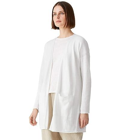 Eileen Fisher Long Cardigan in Organic Linen Cotton
