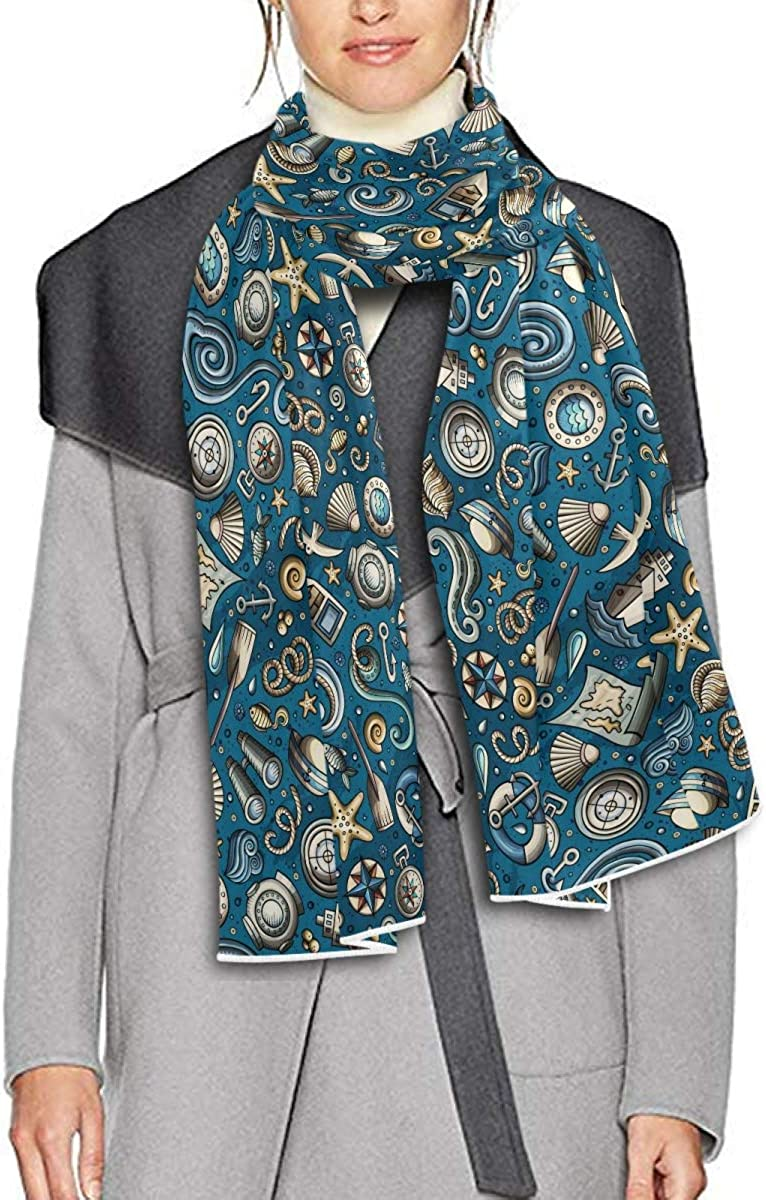 Scarf for Women and Men Nautical Marine Blanket Shawl Scarves Wraps Soft Thick Winter Large Scarves Lightweight