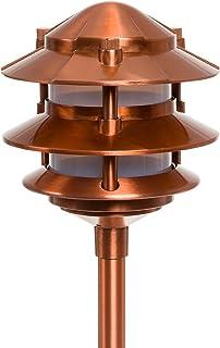 Paradise GL22764CI Low Voltage Cast Aluminum 11-Watt Three Tier Path Light, Copper, one Size