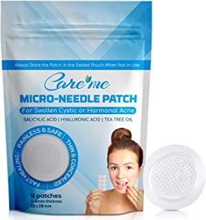 Microneedle Acne Pimple Healing Patch (1 pack 9 dots) - Best for Fully Inflamed or Elevated Cystic or Hormonal Zits Treatment