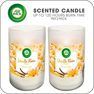 Air Wick Scented Candles, Aromatherapy Candles Jar, Vanilla Bean, up to 120 hours burn time per 2 pack, 2x10.9oz, Fragrance for Living Room, Bedroom, Bathroom, Ideal gift for party