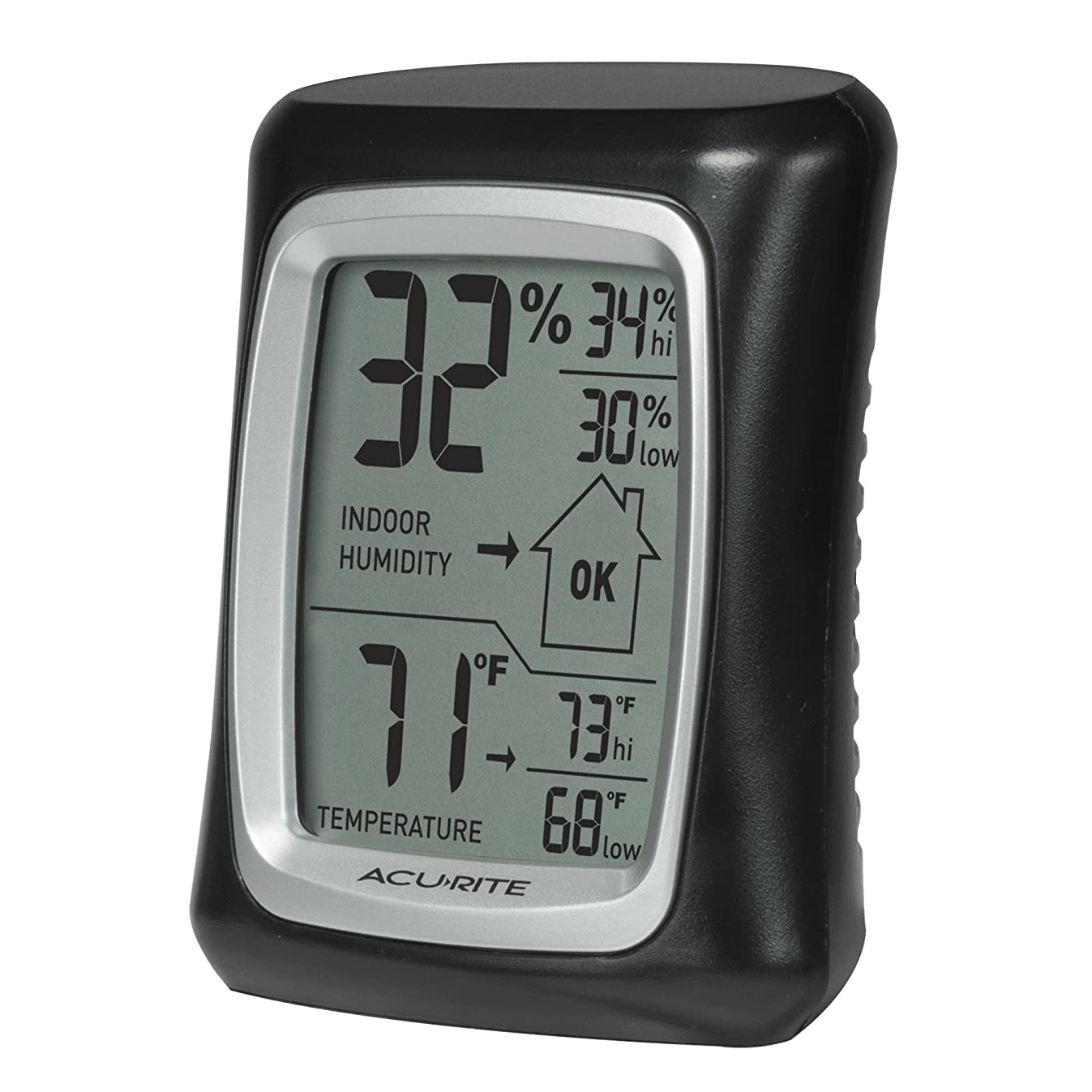 AcuRite 00325 Indoor Thermometer & Hygrometer with Humidity Gauge, Black