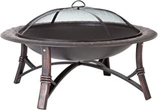 Fire Sense 60857 Roman Fire Pit, Brushed Bronze