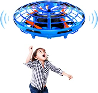 TOYCRAZ Hand Operated Drone for Kids Adults, Hands Free Mini Drones with LED Lights, 2 Flight Modes Easy Indoor UFO Flying Ball Toys Gifts for Boys Girls
