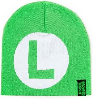 """Nintendo Super Mario Berretto di maglia Luigi Logo """"L (Verde)"""