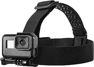 Topmener Head Strap Mount for GoPro Hero 7, 6, 5, Black, Session, Hero 4, Black, Silver, Hero+ LCD, 3+, 3, DJI Osmo Action Cameras Adjustable Elastic Band