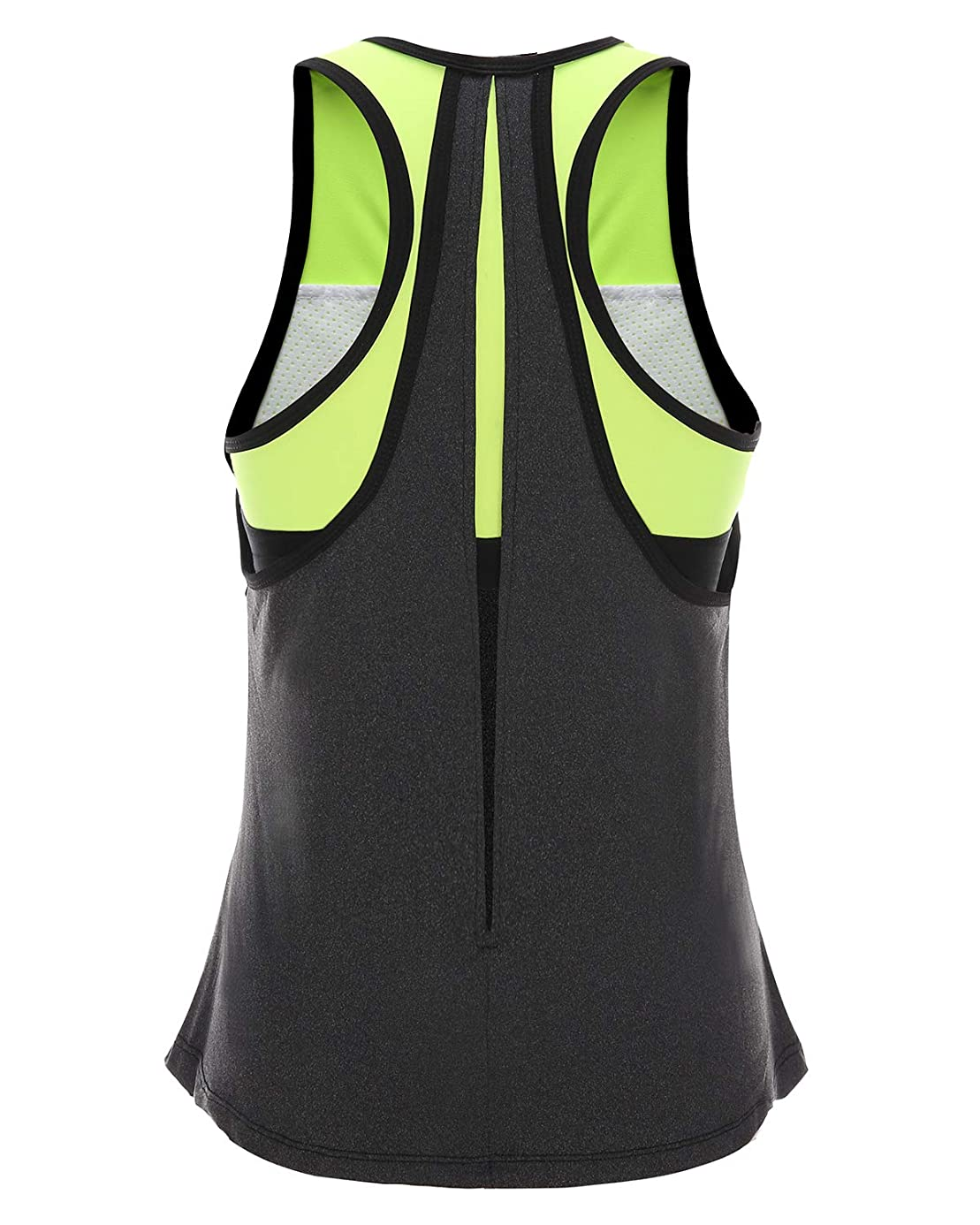 FAFAIR Women Tank Top with Built in Bra Workout Gym Yoga
