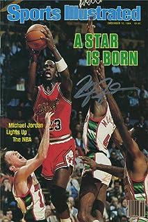 Michael Jordan Sports Illustrated Autograph Replica Super Print - A Star is Born - Chicago Bulls - 12/10/1984 - Unframed
