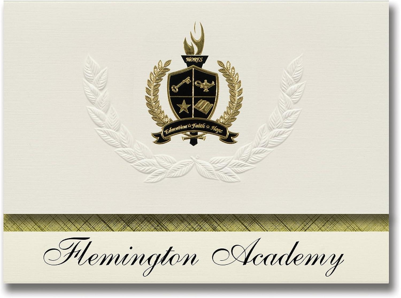 Signature Ankündigungen Flemington (Academy (Raleigh, NC) Graduation Ankündigungen, Presidential Stil, Elite Paket 25 Stück mit Gold & Schwarz Metallic Folie Dichtung B078VCNRSR   | Schöne Kunst