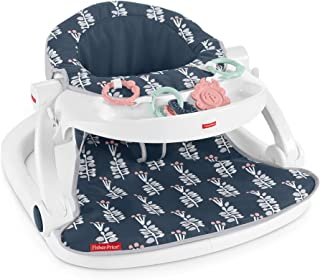 Fisher-Price Sit-Me-Up Floor Seat with Tray - Navy Garden, Infant Chair
