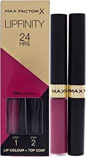 Max Factor Lipfinity Lipstick with Gloss , Vivacious 040