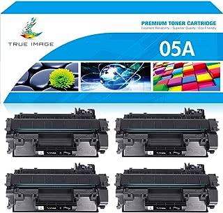True Image Compatible Toner Cartridge Replacement for HP 05A CE505A Laserjet 2035 P2035 P2055DN P2055X P2050 P2030 (Black, 4-Pack)