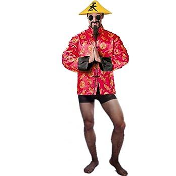 Disfraz de Chino Cudeiro - Hombre, L: Amazon.es: Ropa y accesorios