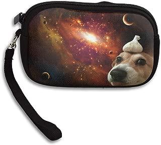 Reteone Little Wallet - Cute Space Garlic Dog Coin Purse Storage Package - Money Holder Bag Key Handbag - Zipper Mini Wallet for Men & Women
