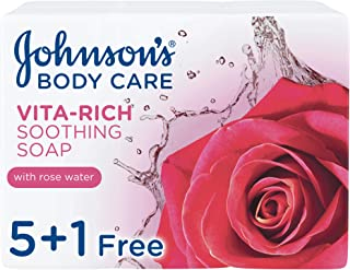 Johnson's Body Soap, Vita-Rich, Soothing, 125 gm, Pack of 6
