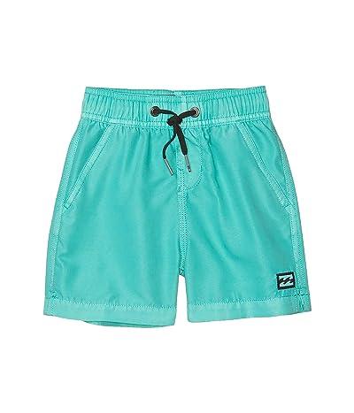 Billabong Kids All Day Overdye Layback Swim Shorts (Big Kids) (Aqua) Boy