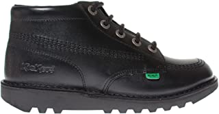 Kickers Kick Hi Leather Kids School Fashion Shoe - Black
