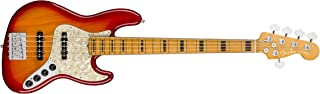 $2199 » Fender American Ultra Jazz Bass V 5-String Bass Guitar (Plasma Red Burst, Maple Fingerboard)