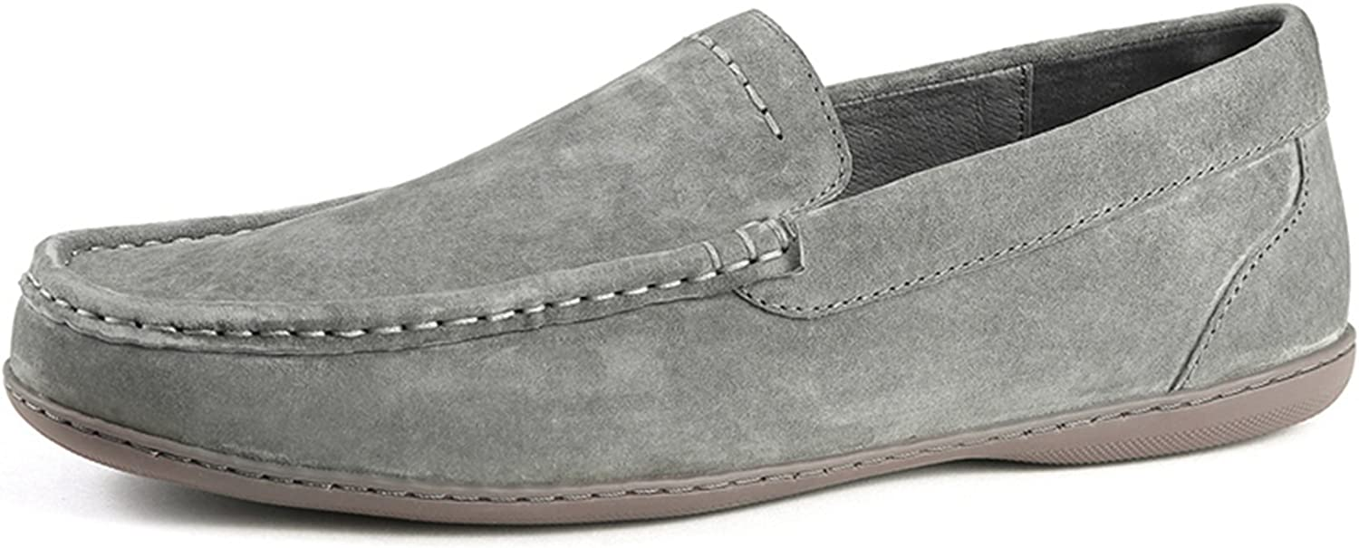 Miyoopark Men's New Hot Leather Slip-on Flats Fashion Driving shoes