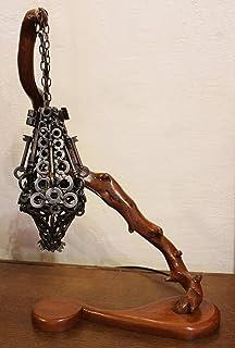Lampada Mood/legno metallo : Lampada a sospensione.