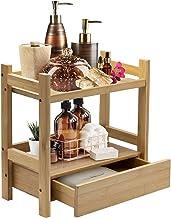 Sorbus Bamboo Makeup Organizer, Multi-Purpose Storage for Skincare, Toiletries, Desktop, Household Items, Display Stand Sh...