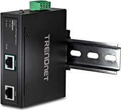 TRENDnet Hardened Industrial 90W Gigabit 4Ppoe Injector,4-Pair Power Over Ethernet, Poe(15.4W), Poe+(30W), 4Ppoe(90W)Power, IP30, DIN-Rail/Wall Mount Included, 4-Pair Poe Up to 100M (328 ft.),TI-IG90