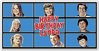 The Brady Bunch Birthday Banner Custom Party Backdrop Decoration
