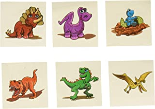 U.S. Toy Lot of 144 Assorted Dinosaur Theme Temporary Tattoos