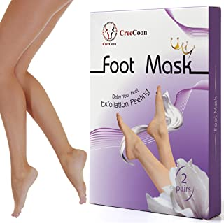 Foot Peeling Mask for Women Men - 2 Pairs - Best Exfoliation Peel Mask for Removing Cracked Dead Skin and Callus - Smooth Gentle Foot - XL Mens Masks Set