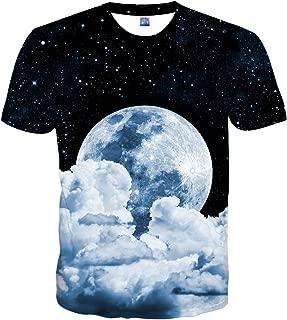 Unisex Stylish 3D Printed Graphic Short Sleeve T-Shirts for Women Men