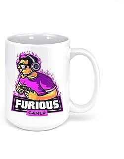 "1 Mug -""Furious Gamer"" Collectors Mug - Perfect for your cuppa Coffee, Tea, Karak, Milk, Cocoa or whatever Hot or Cold Bev..."