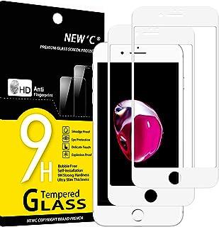 """NEW'C 2 Stuks, Screen Protector voor iPhone 7, iPhone 8, iPhone Se 2020 (4,7 """") Integraal [Volledige dekking] Schermbesche..."""