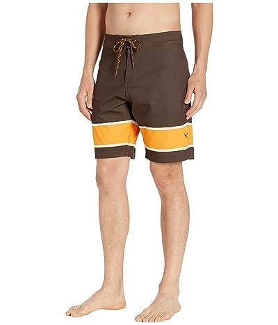PUMA Golf Hang Ten Boardshorts (Chocolate Brown) Men