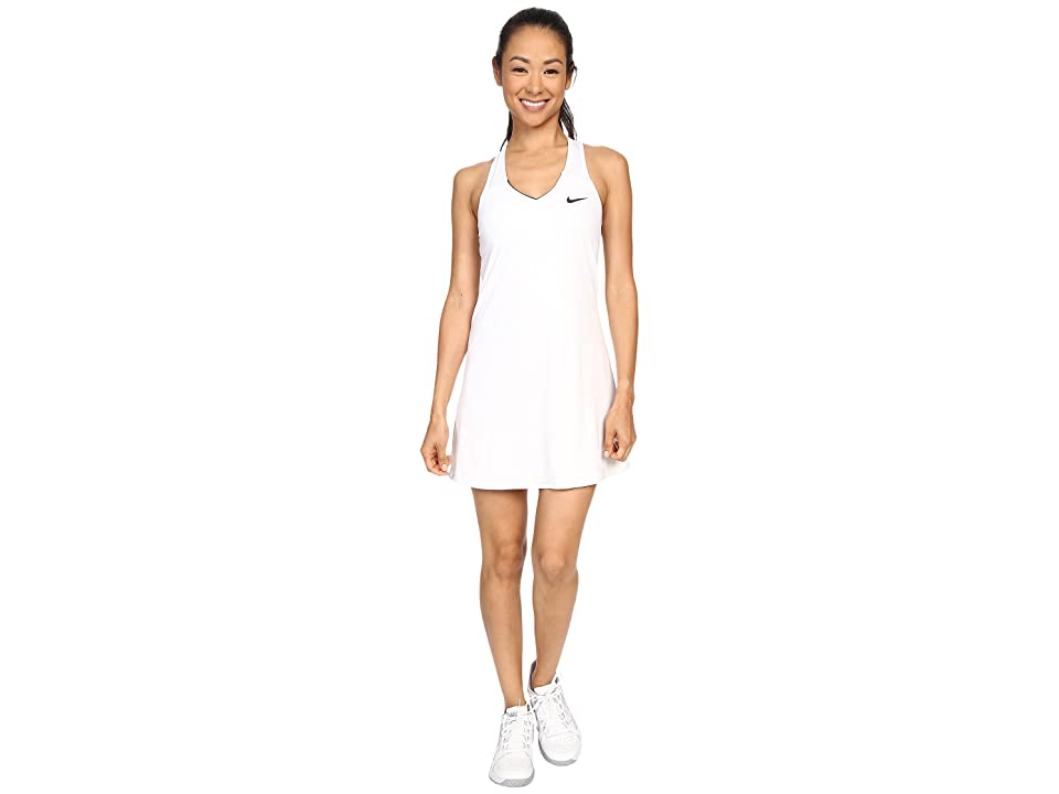 Nike Court Pure Tennis Dress (White/Black) Women
