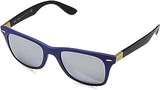 Ray-Ban WAYFARER LITEFORCE - MATTE BLUE Frame GREY FLASH Lenses 52mm Non-Polarized