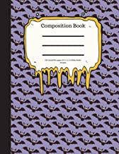 Composition Book 100 Sheet/200 Pages 8.5 X 11 In.-Wide Ruled- All Bats: Halloween Notebook for Kids - Student Journal - Sp...