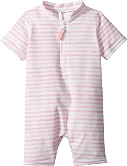 Toobydoo - Sweet Pink Stripe Sunsuit (Infant/Toddler)