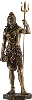 Top Collection Large Standing Shiva Statue with Trishula Trident - Lord Shiva Destroyer of Evil Sculpture in Premium Cold Cast Bronze - 24-Inch Collectible Hindu Figurine