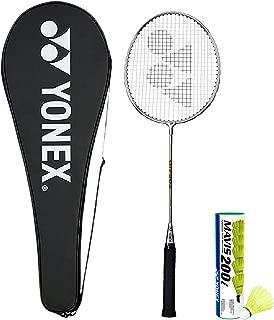 Yonex GR 303 Badminton Racquet with Full Cover and Mavis 200i Shuttlecock