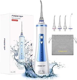 Limpiador dental dental inalámbrico recargable con 4 modos y 4 boquillas de chorro IPX7, resistente al agua, recargable po...