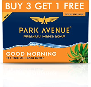 Park Avenue Good Morning Soap For Men, 125g (BUY 3 GET 1 FREE)