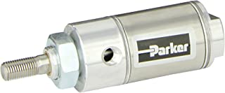 Nose Mount 1//8 NPT Port 1//8 NPT Port Parker Hannifin 7//16 inches Rod OD Round Body Double Acting 1-1//2 inches Bore Parker 1.50DSR03.0 Stainless Steel Air Cylinder 3 inches Stroke Non-cushioned