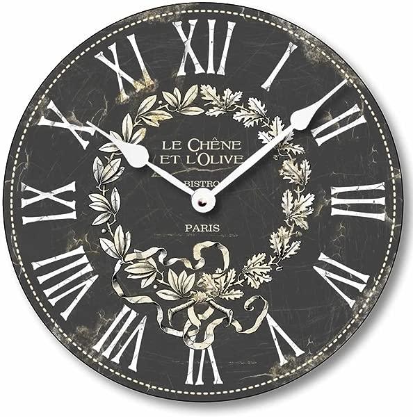Fairy Freckles Studios Item C2041 Vintage Style French Bistro Clock 12 Inch Diameter