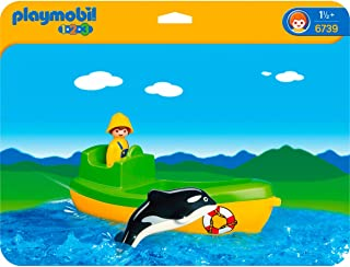 Playmobil 1.2.3 Fishing Boat with Whale