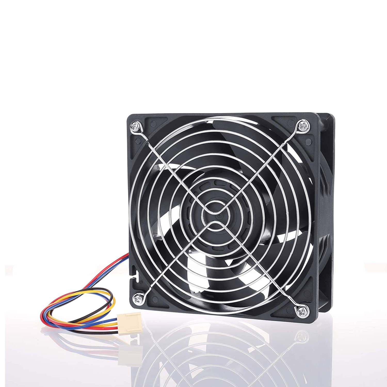 High Speed 120mm x 38mm 12V 210CFM FG PWM Powerful Fan Cooling for Power Mining Workstation Server CPU Cooler