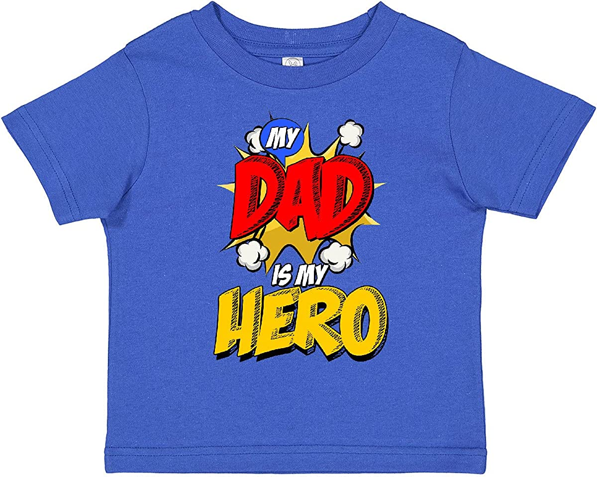 inktastic Dad is My overseas Some reservation Hero T-Shirt Toddler